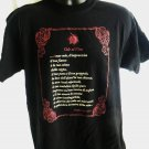 Ode to Wine (Vino In Italian) Black T-Shirt Size Large