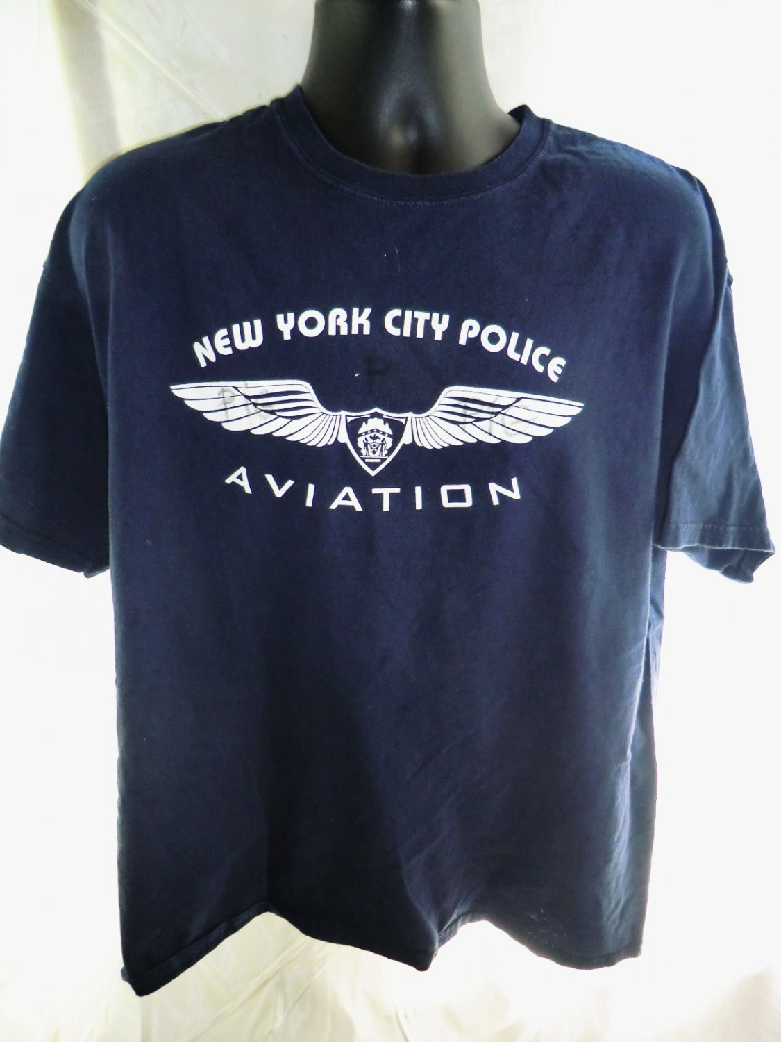 SOLD! NYCP Aviation Unit T-Shirt Size XL Helicopter New York City Police