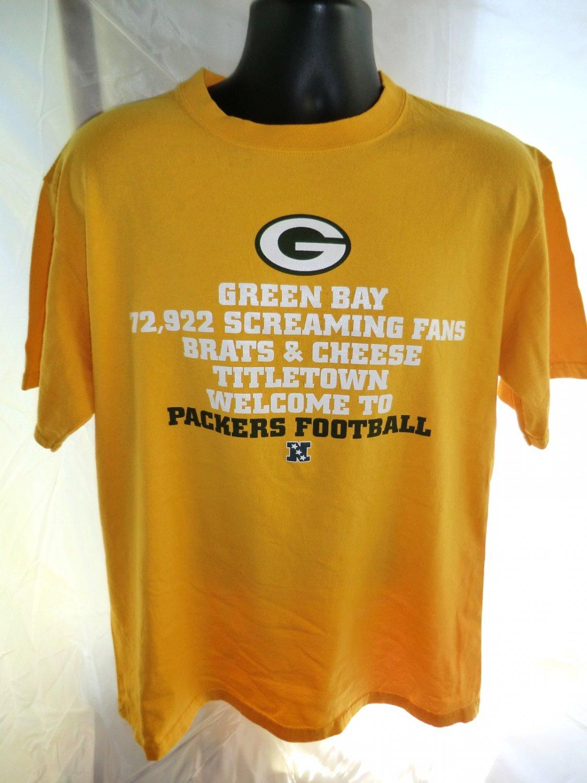 SOLD! Green Bay Packer Fan T-Shirt Size Large Titletown