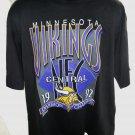 VINTAGE 1992 Minnesota Vikings Division Champs T-Shirt Size XL NEW!