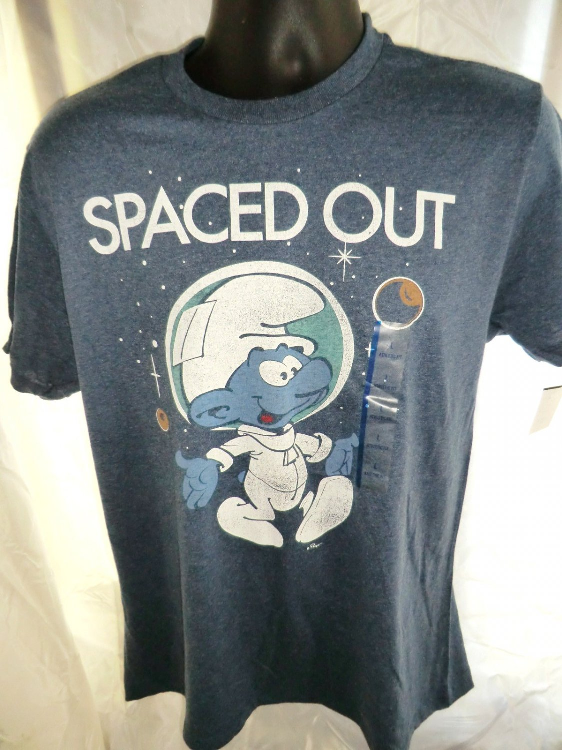 SOLD! NWT Spaced Out SMURF Size Large T-Shirt NEW!