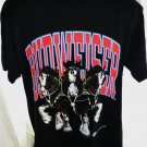 1995 BUDWEISER Size Large Black T-Shirt Clydesdales