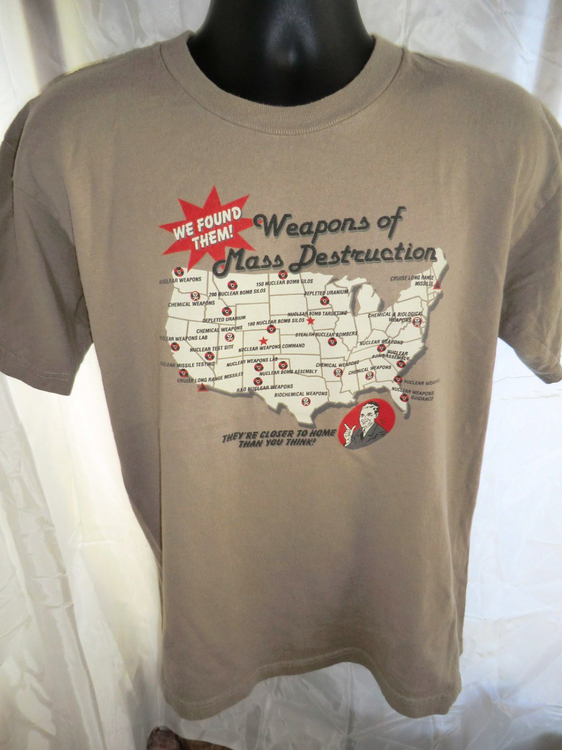 SOLD! Not so funny Weapons of Mass Destruction US Tour T-Shirt Size Medium
