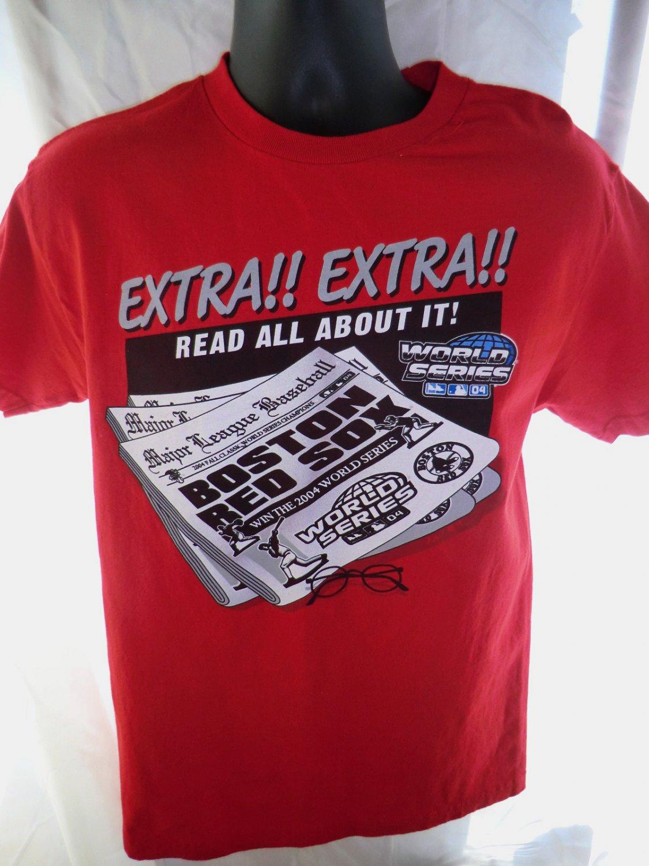 2004 BOSTON RED SOX Win World Series T-Shirt Size Medium