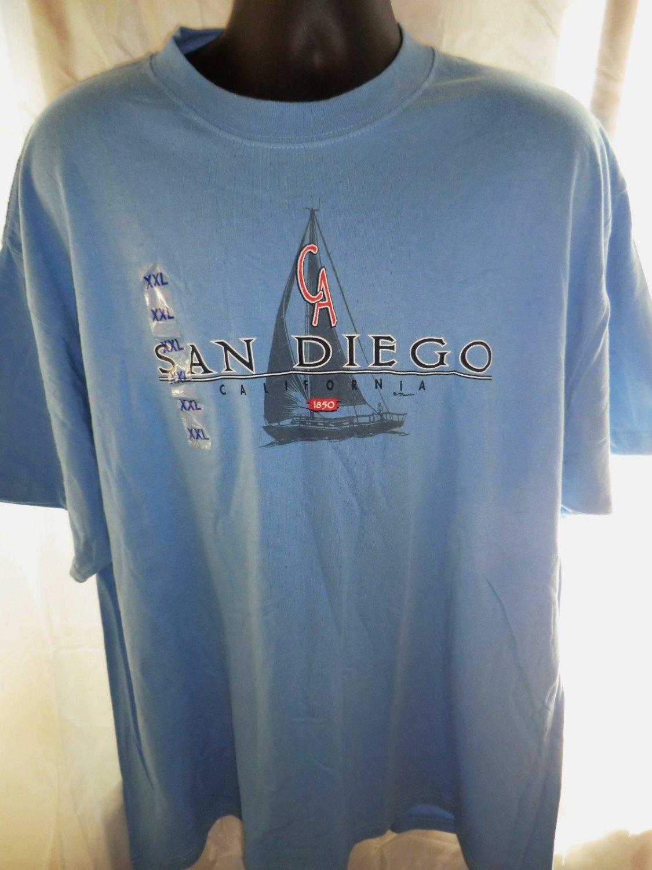 New Blue SAN DIEGO T-Shirt Size XXL 2XL