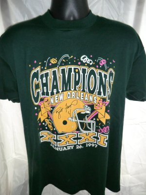 1997 Super Bowl Champions Green Bay Packers T-Shirt Size Large