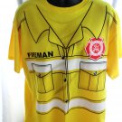 Firefighter / Fireman Yellow T-Shirt Size XL