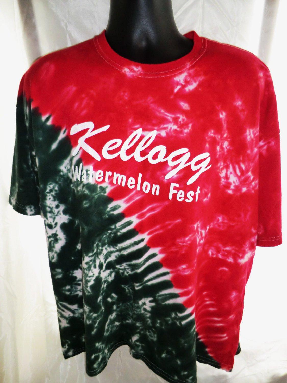 Kellogg Minnesota Watermelon Fest T-Shirt Size 2XL XXL Tie Dye Red Green
