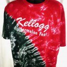 Kellogg Minnesota Watermelon Fest T-Shirt Size 2XL XXL Tie Dye Red Green