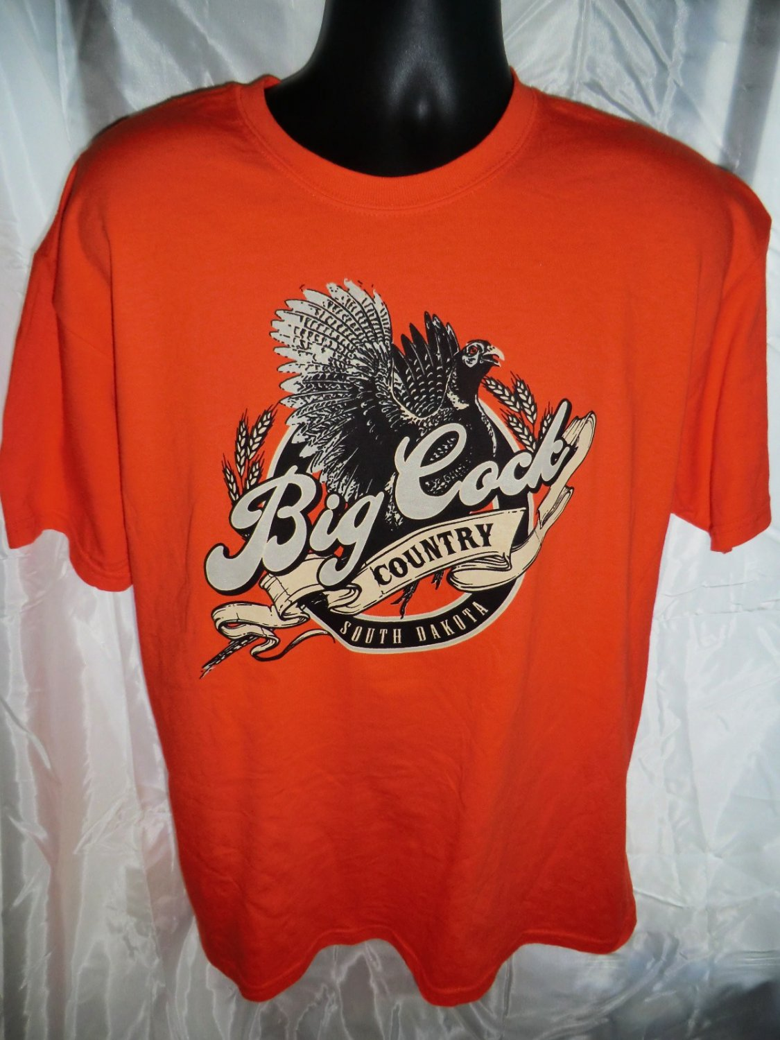 SOLD! Pheasant Hunting Orange T-Shirt Size Large South Dakota