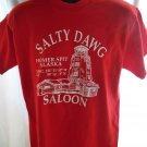 Salty Dawg Saloon Homer Spit Alaska Red T-Shirt Size Medium / Large