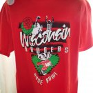 NWT Vintage 1994 Wisconsin Badgers ROSE BOWL XL T-Shirt Red Never Worn! WI