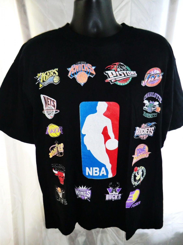 new nba basketball t shirt team logos size large. Black Bedroom Furniture Sets. Home Design Ideas