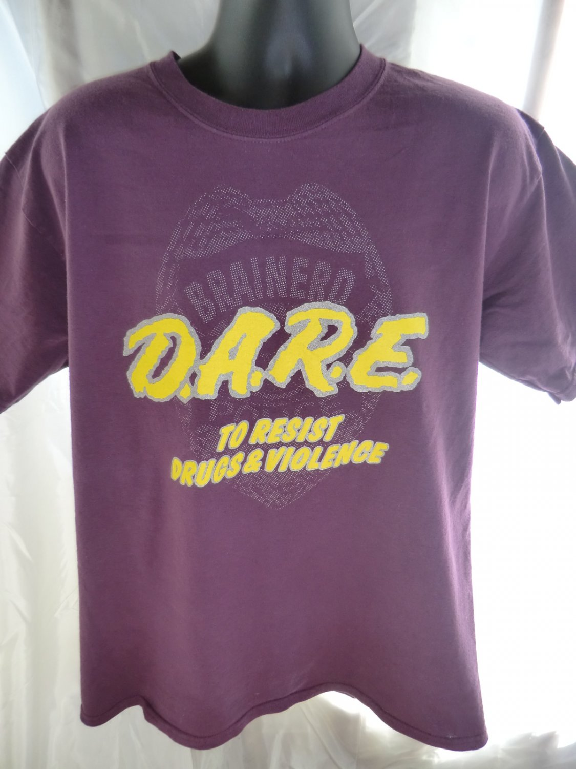 SOLD! DARE To Resist Drugs and Violence T-Shirt Purple Size Large