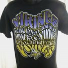 Cool Minnesota MN Vikings Black T-Shirt Size Medium