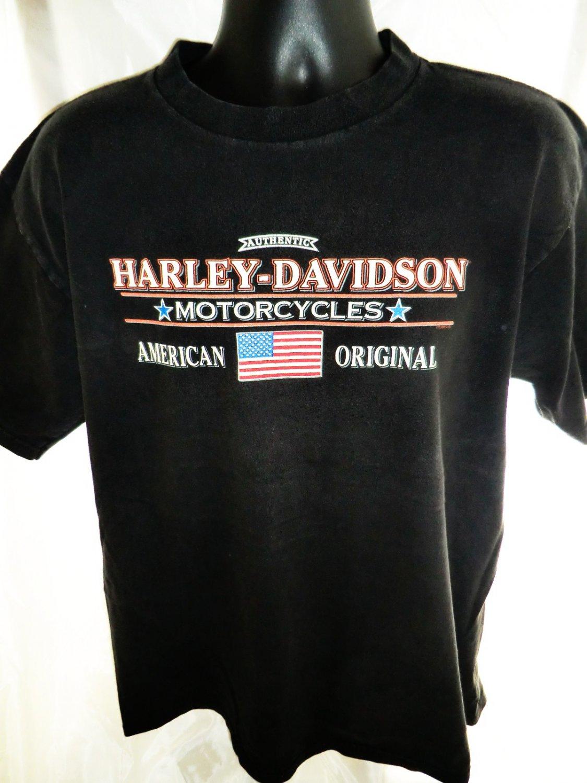 SOLD! 1995 Harley Davidson Dealer T-Shirt Fairbanks Alaska Size Large XL