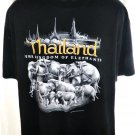 Thailand Kingdom of Elephants T-Shirt Size XL