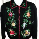 Women's UGLY Holiday SWEATER Black Size Medium