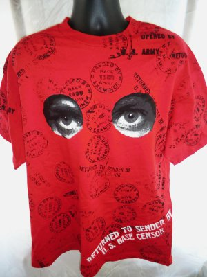 Rare Graphics Return To Sender US Base Censor XL Red T-Shirt