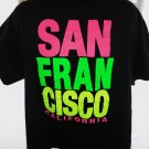 Neon SAN FRANCISCO California T-Shirt Size XL