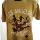 Los Angeles Board Runner T-Shirt Size Large Surfer Graphic