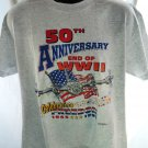 50th Anniversary End of WWII T-Shirt Size Large