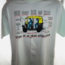 Funny Souvenir of India T-Shirt AUTORICKSHAW Size Large