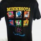 Vintage 1991 1992 Minnesota Sports T-Shirt Size Medium Hockey Football Golf Baseball