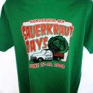Funny Sauerkraut Days 2008 Henderson Minnesota Large T-Shirt REAL Celebration!