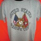 USMC T-Shirt United States Marine Corps Size Medium /Large