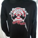 Double Bull Archery DUCK or BLEED Long Sleeve Black T-Shirt Size Large