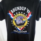 Rare 1993 Bikers Corner Magazine Roundup T-Shirt Size Large Michigan