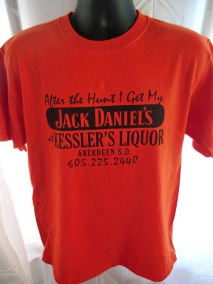 FUNNY JACK DANIELS & HUNTING PHEASANT Medium T-SHIRT SOUTH DAKOTA