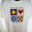 NEW Quilter's T-Shirt Sew many quilts ~ Sew Little Time Size Large