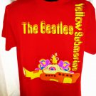 The BEATLES Yellow Submarine Red T-Shirt Size Large NEW!