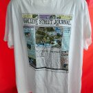 Vintage 1990 Fishing T-Shirt Size XL ~ Walleye (Wall) Street Journal