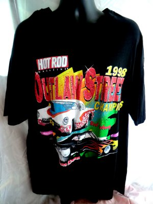 SOLD! 1998 Hot Rod Magazine T-Shirt Outlaw Street Champions Size XXL