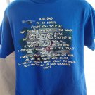 "Funny T-Shirt ""Mom Dad…It wasn't a party"" T-Shirt Size Large READ!"