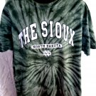 THE SIOUX North Dakota Tie Dye Green T-Shirt Size XL