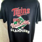 Rare Vintage 1987 Minnesota TWINS Large T-Shirt World Series Champions