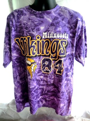 Minnesota Vikings XL T-Shirt DEAL! Tie Dye ~ Old Randy Moss Shirt # 84