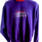 RED HAT DIVA Sweatshirt Size Large Purple Red