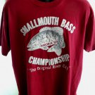 Vintage 1993 Smallmouth Bass Championship Anoka MN T-Shirt Size XL