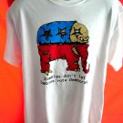 Zombies Don't Let Zombies Vote Democrat T-Shirt Size Large