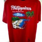 Souvenir Boracay Philippines HAND PAINTED T-Shirt Size XL