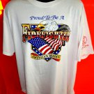Proud To Be A Firefighter T-Shirt ~ America's Bravest ~ Size XL