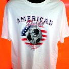 New! AMERICAN PRIDE American Soccer PLAY HARD T-Shirt Size XL