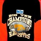 Iowa Hawkeyes Big Ten Champions 2002 T-Shirt Size Large NEW!