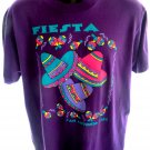 Vintage 1993 Fiesta San Antonio Texas Purple T-Shirt Size Large