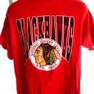 Vintage 1990 Blackhawks T-Shirt Size Large